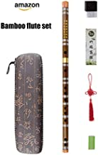 C Key Dizi Bitter Bamboo Flute for Beginners with Free Membrane & Glue & Protector Set Traditional Chinese Instrument(Key of C/Bitter Bamboo)