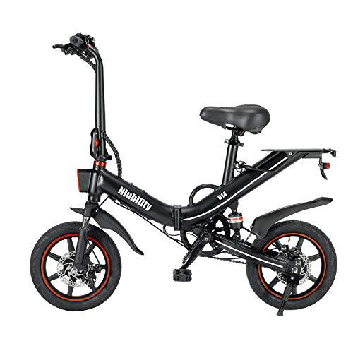 Elektrofahrrad Klappbar Elektrofahrräder 14Zoll 400W Motor Faltbares E-Bike Mountainbike mit 48V 15AH Lithium-Akku 25 km/h Elektrische Faltrad MTB für Erwachsene Herren Damen【DE Lager】