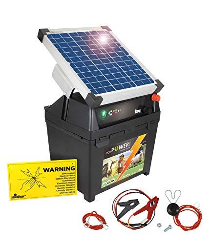 Eider 10 Watt Solarerweiterung f/ür 12 Volt Weidezaunger/äte mit Metallstab 10 Watt Solar Modul mit Hohem Wirkungsgrad verl/ängert die Laufzeit von 12 Volt Akku Ger/äten