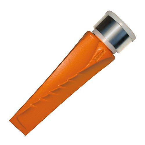 Fiskars Dreh-Spaltkeil, Gehärteter Stahl (geschmiedet), Polymer-Schlagfläche mit Metallring, Orange, SAFE-T, 1001615
