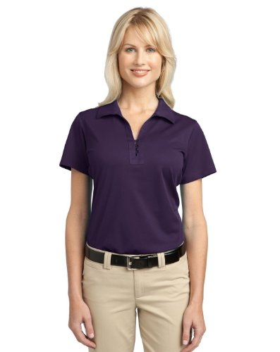 Port Authority L527 Ladies Tech Pique Polo - Regal Purple - X-Small