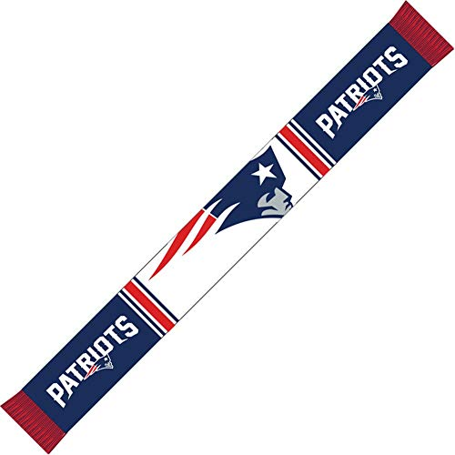 Forever Collectibles New England Patriots Bar Scarf Colour Rush Navy/White - One-Size