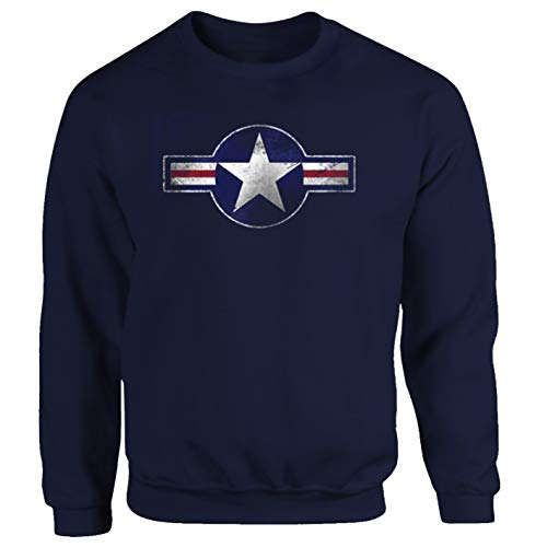Tex-Ha U.S. Air Force Luftwaffe Fallschirmjäger F 16 NASA blau Sweatshirt (S)