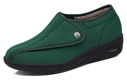 Nwarmsouth Zapatos ortopédicos Ajustables,Zapatos Madre Ajustables, Pantuflas de eversión de pies y Pulgares-Verde_38,Zapatos ortopédicos Ajustables