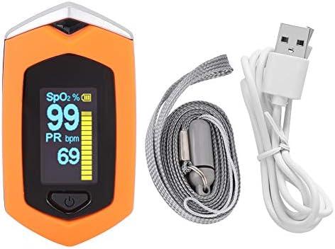 XQ Oxímetro De Pulso, Oxímetro De Dedo para Adultos Y Niños con Pantalla LED, Monitor De Saturación De Oxígeno En Sangre, Yema del Dedo, Monitor De Oxígeno para Adultos con Cordón Y Baterías