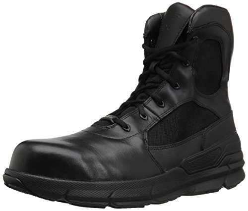 Bates Men's Charge 8 Composite Toe Side Zip Military and Tactical Boot, Black, 09.0 M US