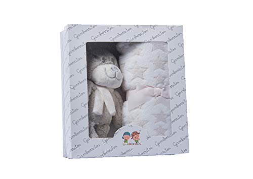 Set Peluche Manta Muñequito - Set Regalo Bebés Recién Nacidos (BEIGE)