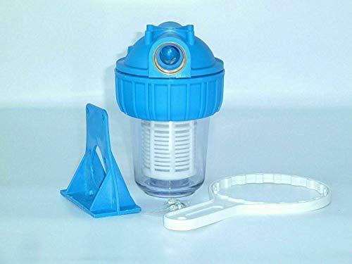 CHM GmbH® 1 Zoll 3000 L und 1 Zoll 4000 Vorfilter Hauswasserwerk Pumpen Vorfilter max.6 Bar mit Montageschlüssel und Wandhalterung, Größe: 1