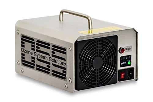 OSS Ten O³ Plus con luz UV | Generador de ozono UV con 10000 mg/h o 10 g/h de salida de ozono | Hecho en Alemania | Soporte telefónico | Los generadores de ozono OSS eliminan olores, bacterias y virus