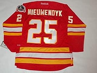 Joe Nieuwendyk Autographed Signed Calgary Flames 1989 Stanley Cup Jersey Proof JSA COA