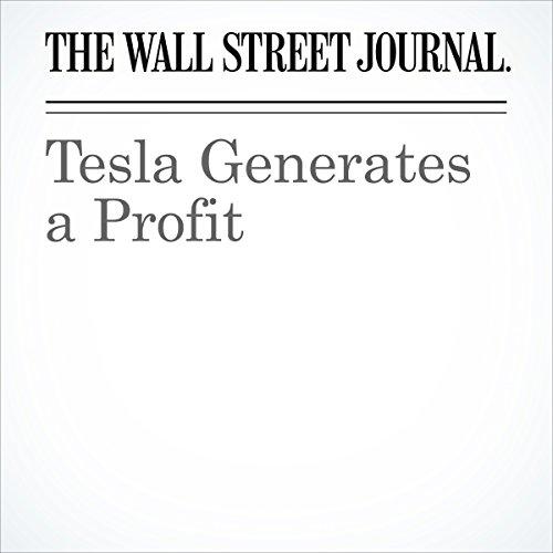 Tesla Generates a Profit cover art