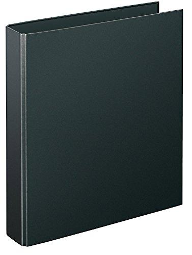 Veloflex 4141080 Ringordner Basic, Ringbuch, Ordner, Hefter, DIN A4, 280 x 315 x 65, 4-Ring-Mechanik, schwarz
