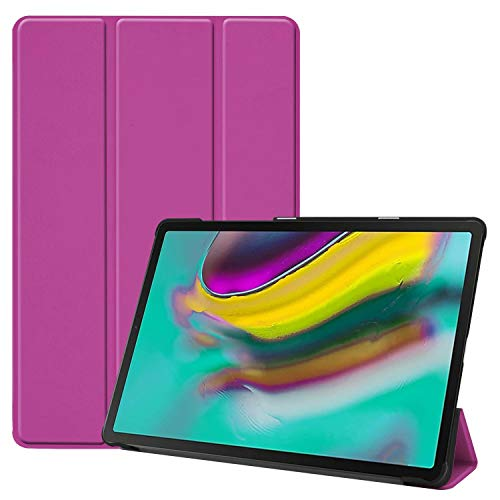 Hfly Compatible with New Galaxy Tab S5e Case SM-T720/ T725, Tri-Fold Stand Smart Cover with Auto Sleep/Wake Slim Tablet Case for Samsung Galaxy Tab S5e (10.5') [Purple]