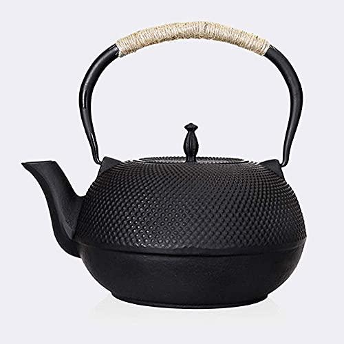 Tetera infusor de cerámica de hierro fundido con infusor de acero inoxidable para té suelto, hervidor de té grande negro de 1800 ml dongdong Espresso Cup TNSYGSB
