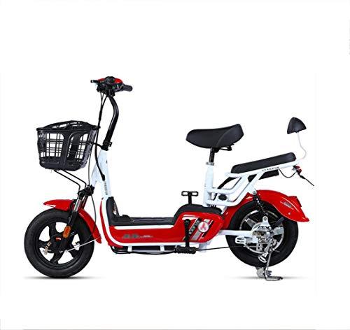 Elektromobilität Roller Elektrofahrrad Erwachsenen Pedal Power tragbare Batterie Auto Mini kleine Männer und Frauen Elektroauto 48V / 12A 350W Doppelfernbedienung Diebstahlsicherung