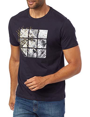Camiseta Cidade Fragmentada, Aramis, Masculino, Marinho, P