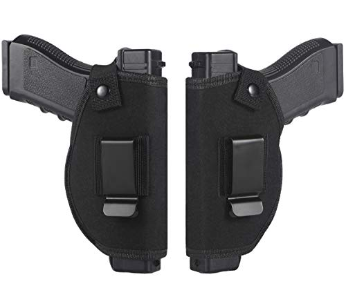 TACwolf 2PC Holster Universal Right Left IWB OWB for Inside Concealed Carry Holster for S&W M&P Shield for G17 19 23 25 26 27 29 30 32 33 38 42 43 Springfield XD XDS Ruger
