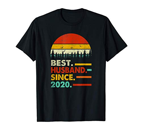 Mens 1 Year Wedding Anniversary Gift Him Best Husband Since 2020 T-Shirt