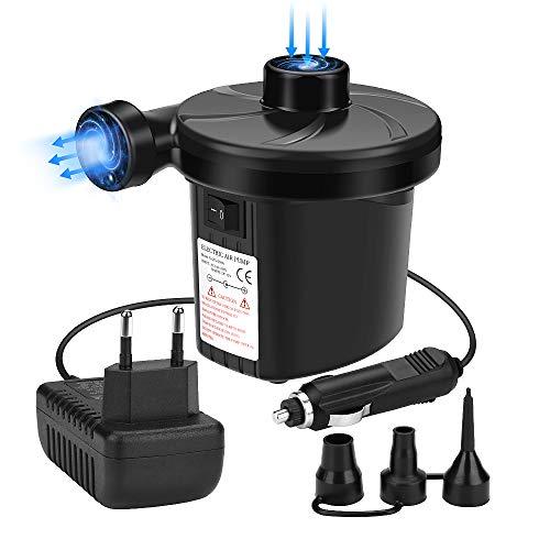 Awroutdoor Bomba de Aire Eléctrica,Bomba De Aire Portátil para Inflar/Desinflar Bote Inflable,...