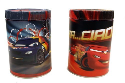 Disney Pixar Cars 2 Movie Round Tin Coin Bank - 1 Pack by Disney