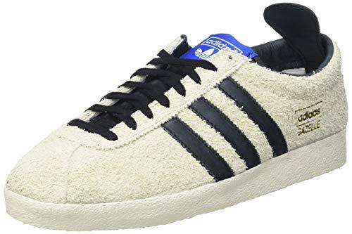 adidas Gazelle Vintage, Scarpe da Ginnastica Uomo, Cream White/Core Black/Blue, 44 EU