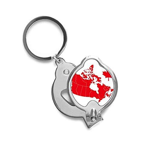 DIYthinker rode esdoorn blad symbool Canada land kaart vingernagel snijder trimmer