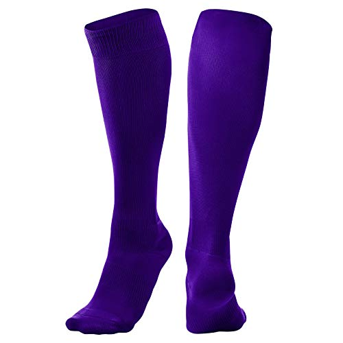 CHAMPRO Pro Socks, Single Pair, Adult Medium, Purple, (Model: AS1P-M)