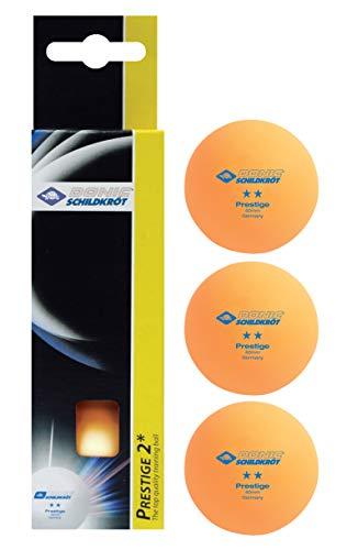 Schildkröt Unisex-Adult 2-Stern Prestige Tischtennisball, 3er Box, orange, 3 STK. im Karton