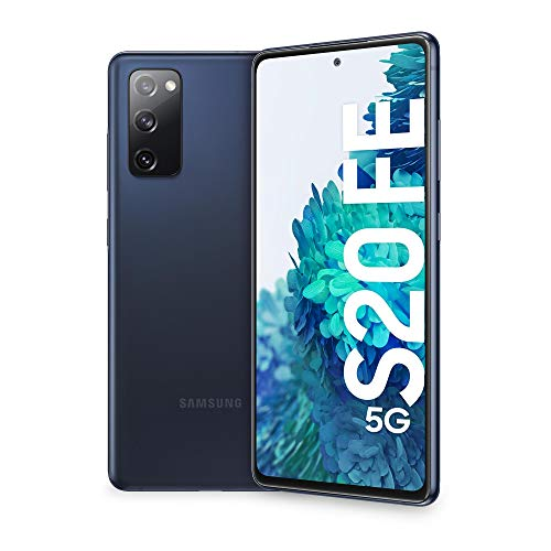 "Samsung Smartphone Galaxy S20 FE 5G, Display 6.5"" Super AMOLED, 3 fotocamere posteriori, 128 GB Espandibili, RAM 6GB, Batteria 4.500mAh, Hybrid SIM, (2020) [Versione Italiana], Navy (Cloud Navy)"