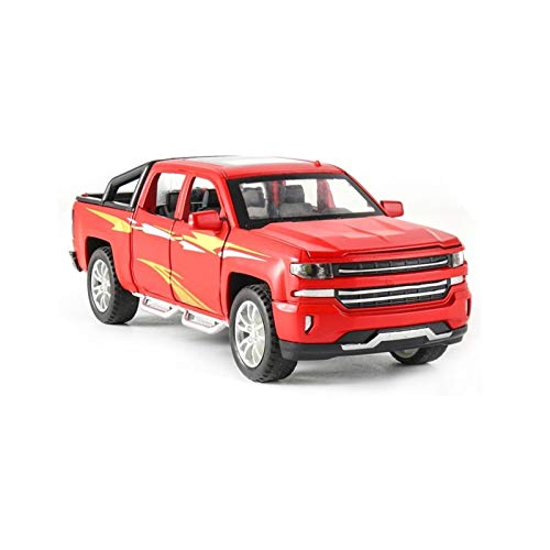 HCEB 1:32 For CHEVROLET Alloy Car Die Cast Model Car Model Sound and Light Pull Back Kids Birthday Gifts to-ys Scale model car (Color : 1)