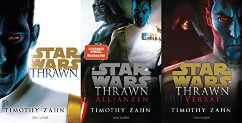 Star Wars Die Thrawn-Trilogie Kanon Band 1-3 plus 1 exklusives Postkartenset