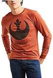 Star Wars The Last Jedi Rebel Logo Orange Long Sleeve Graphic T-Shirt - Large