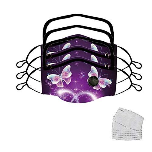MINGGER Frauen Draussen Staub Anti Nebel Sicherheit mit Augen, Ornamental Pattern Design für gut aussehende