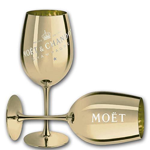 Moet & Chandon Champagne Champagner Glas Gläser Set - 2er Set Gold