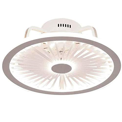 RUIXINBC Ventilador De Techo LED con Iluminación Y Control Remoto, Sala De Estar Silenciosa Regulable Dormitorio Velocidad De Ventilador Ajustable Ventilador De Techo Luz,Blanco