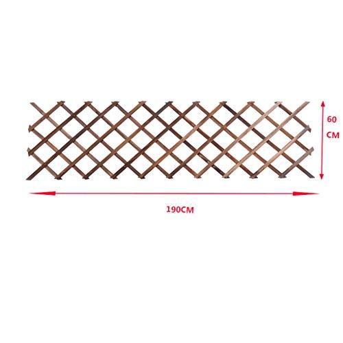 MILUCE Anseptic Wood Wall Adornment Flower Rack, Can Hang Basket, Can Rimb Rattan, Balançoire en Bois Massif Suspendu en Pot de Fleurs, 5 Tailles en Option (Taille : 190cm)