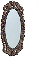 Jai AMBA Crafts WELLpolished and furnished Oval Shape Wall Mirror