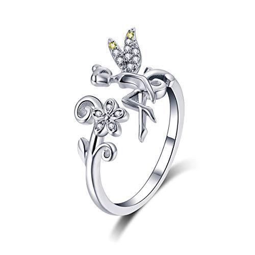 Anello regolabile in argento Sterling 925 con margherita, da donna, matrimonio, fidanzamento, regalo per festa della mamma