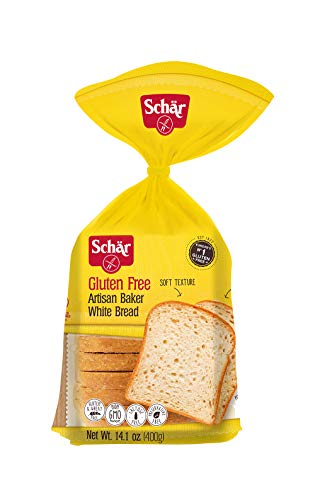 Schar Naturally Gluten-Free Artisan Baker White Bread, 14.1-Ounce Packages (Pack of 6)