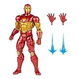 Hasbro Marvel Legends Series - Figura de Iron Man Modular de 15 cm - Diseño Premium - 4 Accesorios y 1 Pieza de Figura para armar