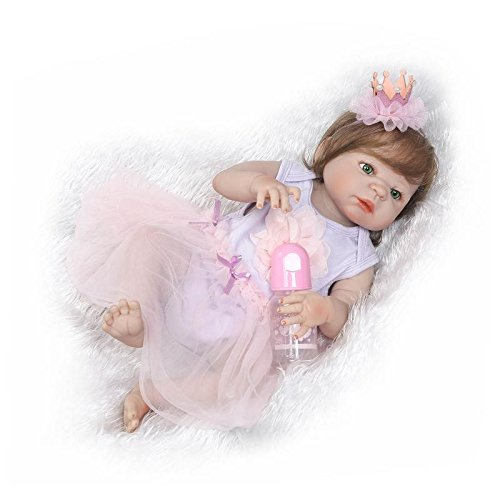 iCradle Reborn Baby Dolls Hecho a Mano 23 Pulgadas 57cm Reborn Bebe Muñecas Realista Lleno Cuerpo Silicona Chica Recién Nacido Baby Dolls Muñecos Reborn Cumpleaños Regalos Navidad Juguetes