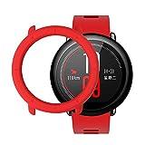 SIKAI CASE Protector Funda Compatible con Huami Amazfit Pace Smart Watch Anti-Arañazos Ligero PC Moda Slim Colorido Marco Caso Cubierta de la Caja Proteger Shell, Rojo