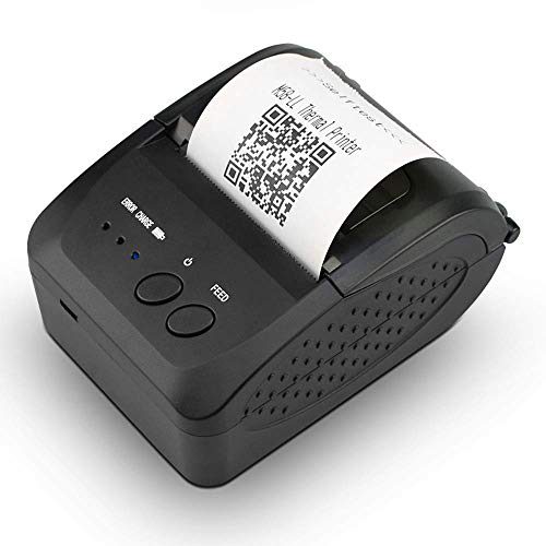 NETUM NETUM Wireless Bluetooth Receipt Thermal Printer, Portable Personal Bill Printer 2 Inches 58mm Mini USB POS Printer for Restaurant Sales Retail Compatible with Android/iOS/PC/Windows/Linux…