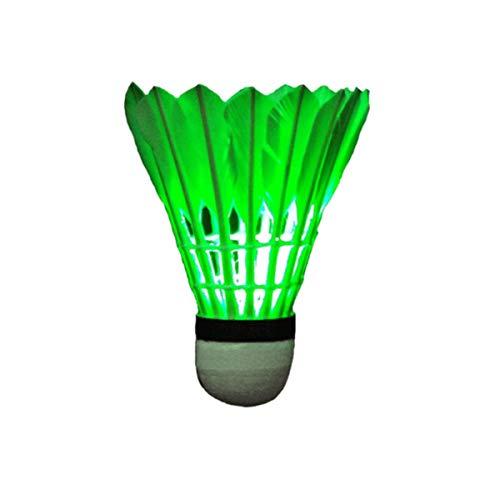 HENGTONGTONGXUN Bádminton, Bola de Corcho, bádminton Luminoso, bádminton de Entretenimiento Luminoso (con Interruptor de luz LED), Adecuado for Entretenimiento/Entrenamiento (5 Palos)