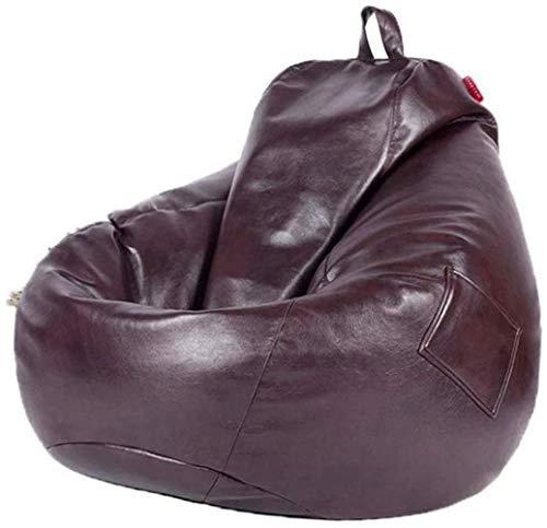 Canapé lit LHY- Confortable Bean Bag Chair Seat Lazy Haut Retour Living Lounge Salle Convient for Lavable Casual Bean Bag Sofa Doux (Color : Chocolate Color)