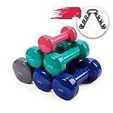LMG Mancuernas Mujer Muscular for el hogar Aptitud Brazo del Entrenamiento con Mancuernas Set Damas Mini Mancuernas de los Hombres de Equipo del Ejercicio Mancuernas Gym