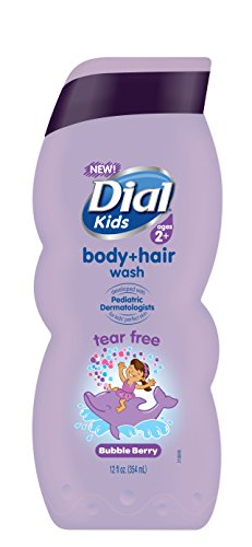 Dial Kids Body + Hair Wash, Bubble Berry, 12 Ounce