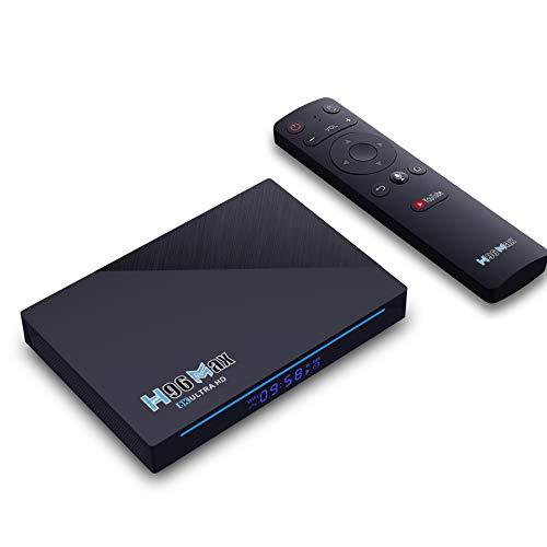 GEQWE Android 10.0 TV Box, Smart TV Box H96 [8GB RAM + 64GB ROM] RK3566 Bluetooth 4.0 CPU De Cuatro Núcleos, Soporta 3D 4K H.265 Salida 2.4G / 5.8G Dual Band WiFi 4.0 USB 3.0 Set Top Box,4gb+64gb
