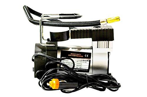JK SALES Heavy Duty Metal Electric Car Air Compressor Pump Portable Tire Tyre Inflator, Cooper Winding, 12V Dc, 150Psi, 35L/Min Air Flow