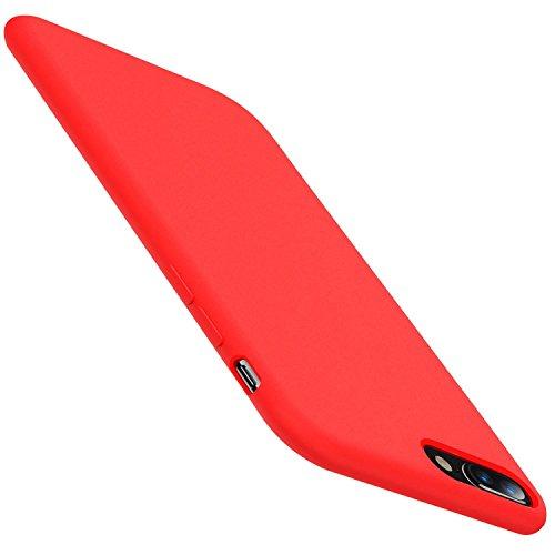 Teryei Funda compatible con iPhone 7/7 Plus, iPhone 8 Plus Silicona Suave Case Full protección Anti-Golpes Rasguño y Resistente Ultra Slim Anti-Estático Choque Bumper